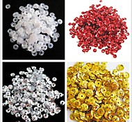 350PCS Light Circle Sequin 6mm Handmade DIY Craft Material/Clothing Accessories(Assorted Color)