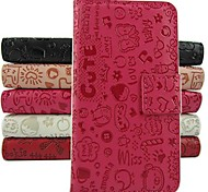Cartoon PU Leather Full Body Case with Stand and Card Slot for LG Optimus L90 (Assorted Colors)