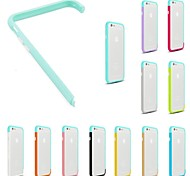 DIY Light Blue Color and Solid Color Combination Design Bumper Frame Case for iPhone 6 (Assorted Colors)