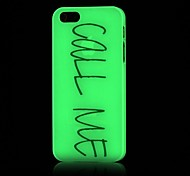 Call Me Pattern Glow in the Dark Hard Case for iPhone 4/4S