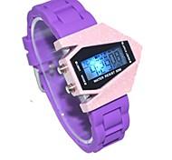 aeromobili colore cinturino in silicone quadrante dell'orologio di sport unisex led display lmitation orologio da polso in ceramica (colori assortiti)