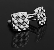 2 x Men's Square Metal Cufflinks Gift Party Wedding Shirt Cuff Link
