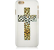 Leopard Grain Cross Pattern Hard Back Case for iPhone 6