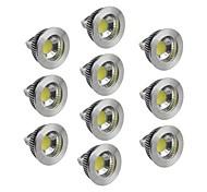 Faretti 1 COB GU5.3 4.5 W Intensità regolabile 400-450 LM 2800-3000/4000-4500/6000-6500 K Bianco caldo/Luce fredda/Bianco 10 pezzi DC 12 V