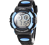Children's LCD Digital Silicone Band Sport Watch (Assorted Colors)