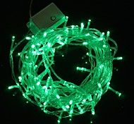 10M 9.6W Christmas Flash 100-LED Green Light Strip Light Lamp (EU Plug , AC 220V)