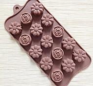 15 Hole Rose Shape Cake Mold