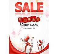 cartões de Natal personalizados 50pcs verticais padrão venda apartamento 2 lados impressão colorida de papel fine art