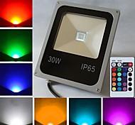 Projecteurs Commandée à Distance RGB 30 W 1 LED Haute Puissance 2400 LM K AC 85-265 V