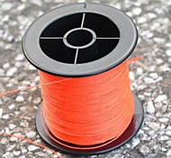 200M / 220 Yards PE Braided Line / Dyneema / Superline Fishing Line Orange 90LB 0.5 mm ForSea Fishing / Fly Fishing / Bait Casting /