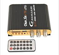 -700 Привет-Fi стерео аудио усилитель с SD / MMC / USB для автомобиля / мотоцикла - черный