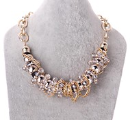Golden Statement Necklaces Crystal / Gold Plated Wedding / Party / Daily / Casual Jewelry