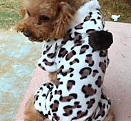 Perros Abrigos / Saco y Capucha / Pijamas Marrón / Rosado Ropa para Perro Invierno / Primavera/Otoño Leopardo Adorable / Cosplay