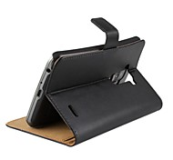Einfarbig echtem Leder Ganzkörper-Abdeckung mit Karte und stehen Slot für LG g flex D958