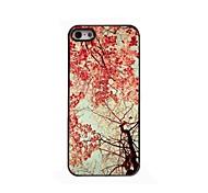 rotes Blatt Design Aluminium-Hülle für das iPhone 4 / 4s