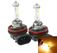 H8  PGJ191 35W Plated Yellow for Car Headlights Headlights Fog Lights 12V(2PCS)