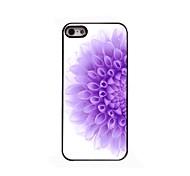 Half of The Purple Flower Design Aluminium Hard Case for iPhone 5