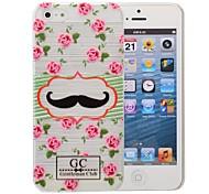 bigode padrão padrão pc caso escovado para iPhone 5 / 5s