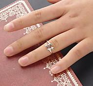 Frauen Silber Efeublatt Ring für Frauen Größe 8