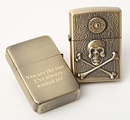 Personalized The Great  Treasure Pattern  Engrave Gold  Metal Oil Lighter