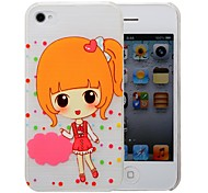 Cute Little Pattern Pattern PC Brushed Case for iPhone 4/4s
