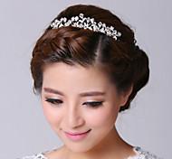 argento da sposa delicato placcato della lega del rhinestone copricapo da sposa