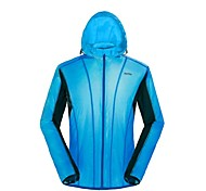 OUTTO Unisex Cycling Rain Jacket/Waterproof jacket/Wind Jacket/Raincoat with Hood Breathable Autumn Blue Lightweight