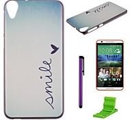 Smile Pattern PC Hard Case with Screen Protector,Stylus and Stand for HTC Desire 820 D820u