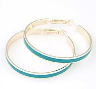 europeo de metal de moda estilo elegante simplicidad pendientes círculo grande (más colores)