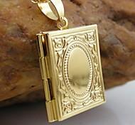 18k ouro banhado allah muçulmano pingente livro