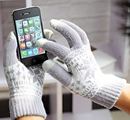 Unisex 3-Finger Capacitive Screen Touching Knitting Winter Warm Gloves for iPhone 6/iPad and Others(Assorted Colors)