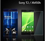 0.33mm Transparent Screen Protector with Cleaning Cloth for SONY T2