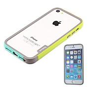 новое прибытие роскошный двойной цвет силиконовый бампер мягкий рамка для iPhone 5 / 5s (ассорти цветов)
