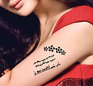 5 Pcs Black Arabic Heart Broken Waterproof Temporary Tattoo Sticker