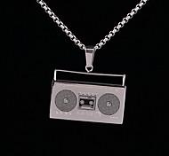 z&x® de punk rock and roll enregistreur de sons collier Titanium pendentif en acier hommes