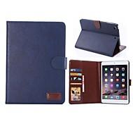 ma loco estuche de cuero pu wen con cubierta del soporte del soporte de la tarjeta para Apple iPad Mini 3.2 (colores surtidos)