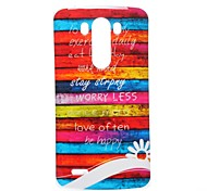 Colors of Rainbow Pattern TPU Soft Case for LG G3