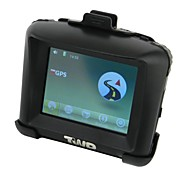 3.5 '' Resistive Touch Screen Waterproof Motorcycle GPS Navigator(Without Battery) - Black