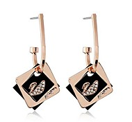 Fashion Color square Swan Earring(Assorted Color)
