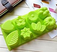 8 отверстий цветы листьев формы торт форму