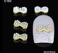 10pcs Mix Rhinestone Group Glitter Blue Bowtie DIY Alloy Accessories Nail Art Decoration