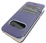 caso simples elegante duplo aberto couro janela para iphone 6 (cores sortidas)