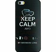 """Keep Calm And Carry on"" Words Car Pattern PC Hard Back Cover Case for iPhone 5/5S"
