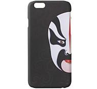 """Black Back """"Big Right Face"""" Design Case Hard Case for iPhone 6"""