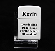 Personalized White Metal Oil Lighter