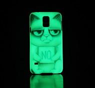 Cat Pattern Glow in the Dark Hard Case for Samsung Galaxy S5