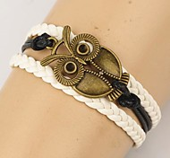 shixin® couches multiples Vintage européens hibou bracelets d'emballage (1 pc)