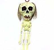 1pcs crânio bege brinquedo pendurado paródia horror voz