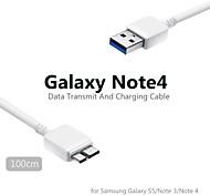 1m micro usb cabo de dados e volta para samsung galaxy s5 / noet 3 / nota 4