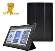Shy Bear™ Crazy Horse Style Stand Smart Hard Shell Leather Cover Case for Sony Xperia Z2 10.1 Inch Tablet